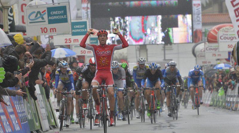 Christophe Laporte lors de sa première victoire professionnelle sur le Tour de Vendée en 2015