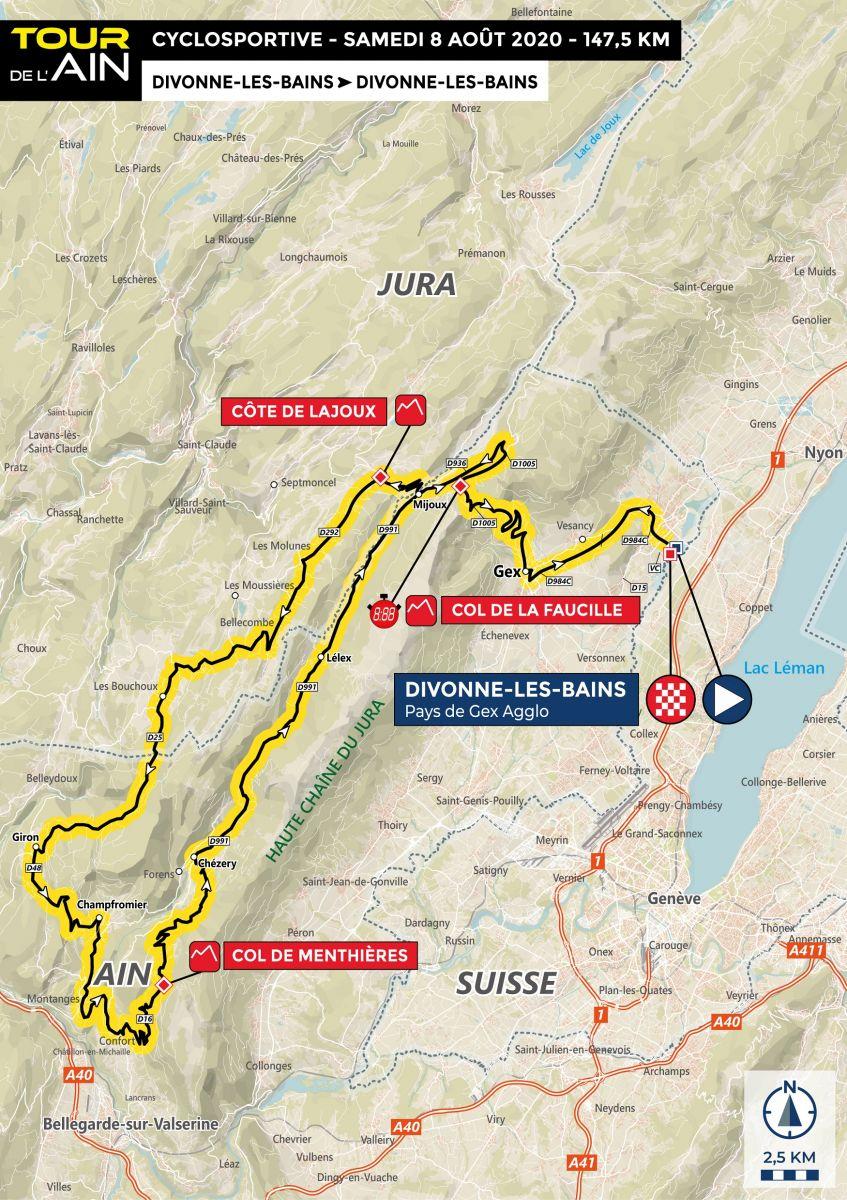 Cyclosportive - Tour de l'Ain 2020_Carte