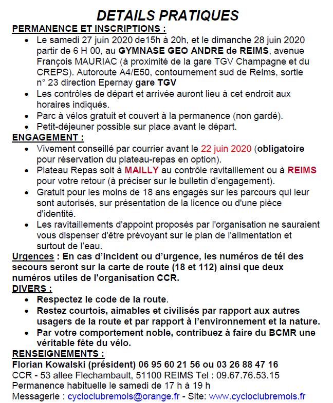 Details_Le Brevet Cyclo de la Montagne de Reims 2020