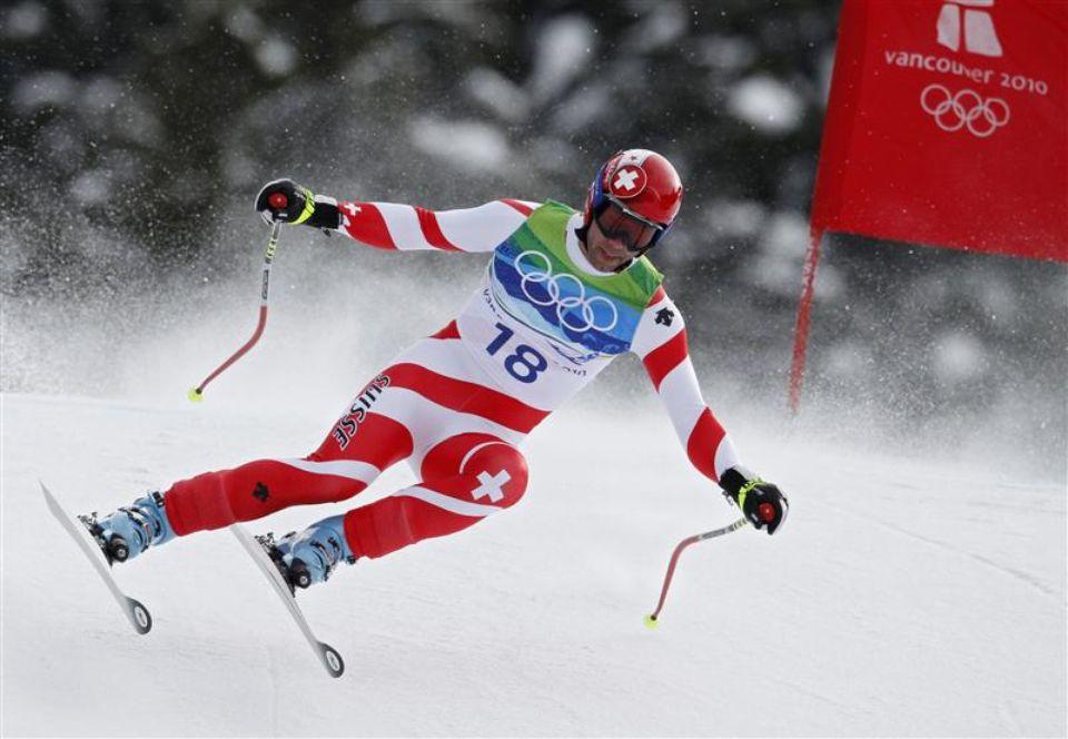 Didier Defago, champion olympique en 2010 avec des chaussures Rossignol