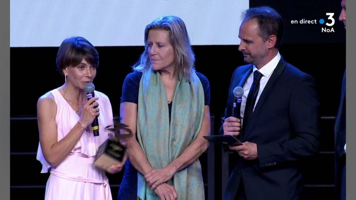 Elisabeth lors du gala après le critérium de Bergerac