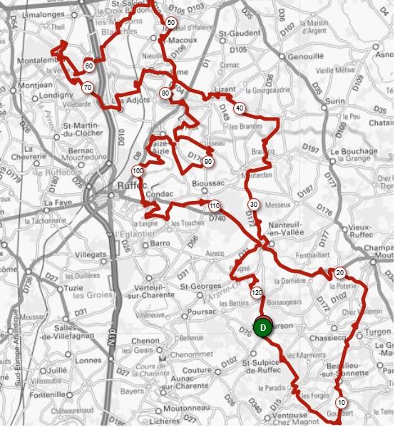 Flandres Charentaise Classic Cyclo -Parcours 2020 prévisionnel