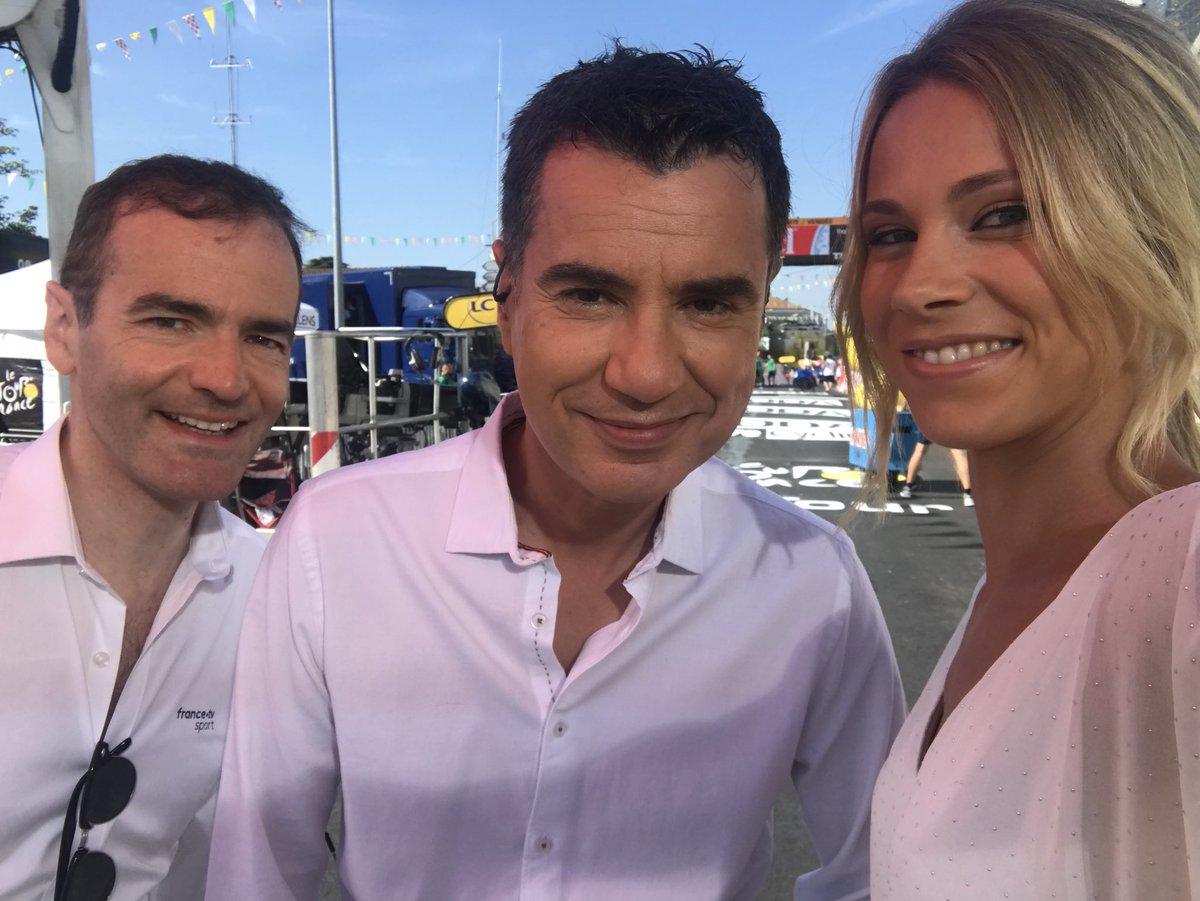 Franck Ferrand avec Laurent Luyat et Marion Rousse