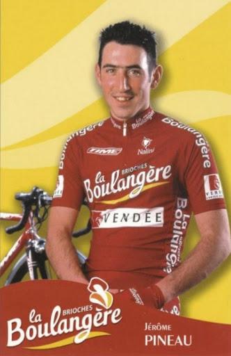 Jérôme Pineau sous le maillot de la formation Brioches-La Boulangère