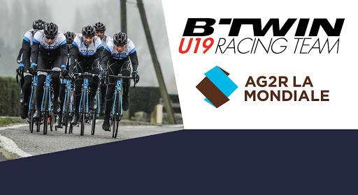 L'équipe AG2R La Mondiale U19, parrainée par les marques de cycles Décathlon