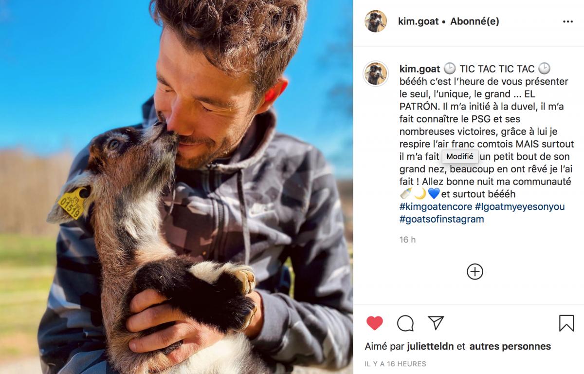 La chèvre de Thibaut Pinot sur Instagram