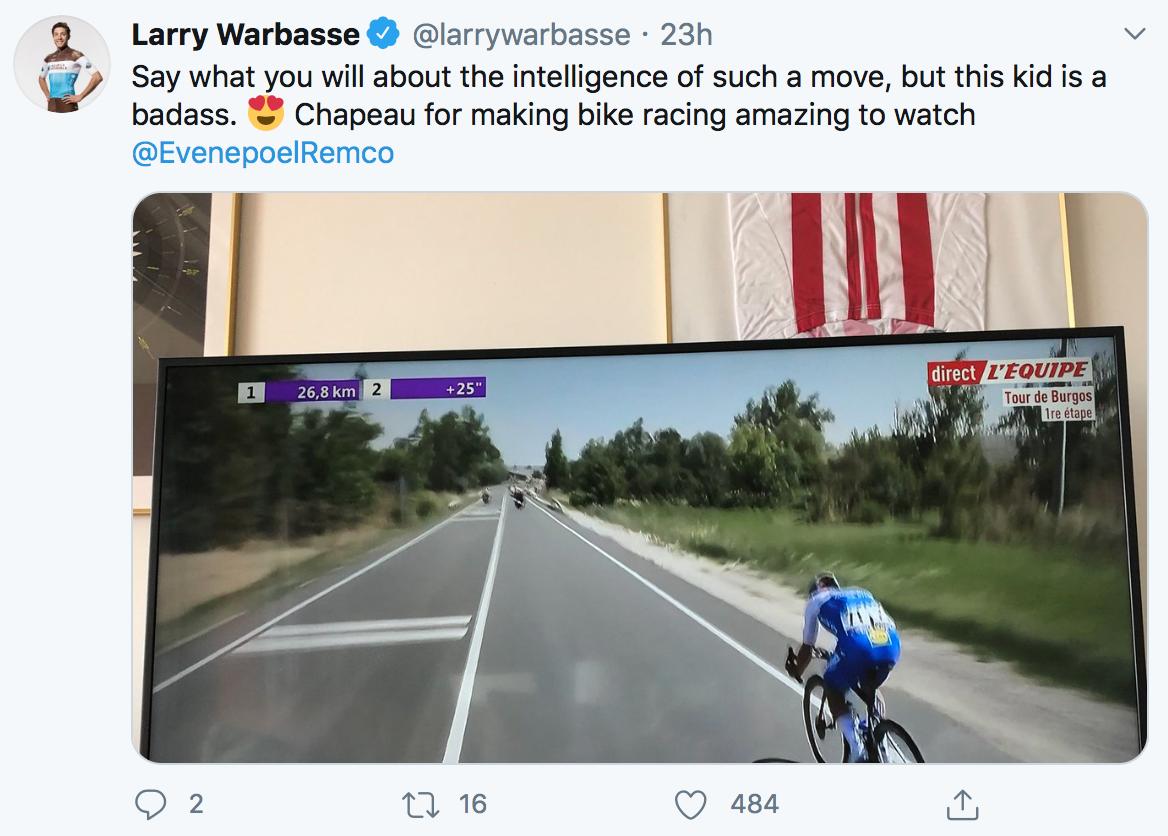 Larry Warbasse admiratif