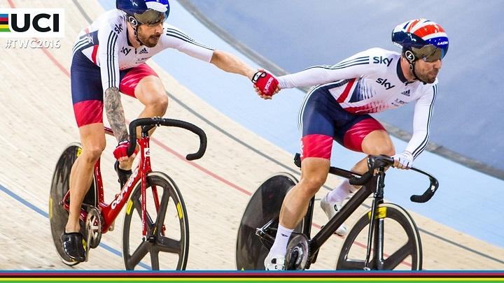 Mark Cavendish et Bradley Wiggins associés