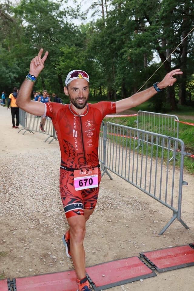 Mathieu à l'oeuvre en triathlon