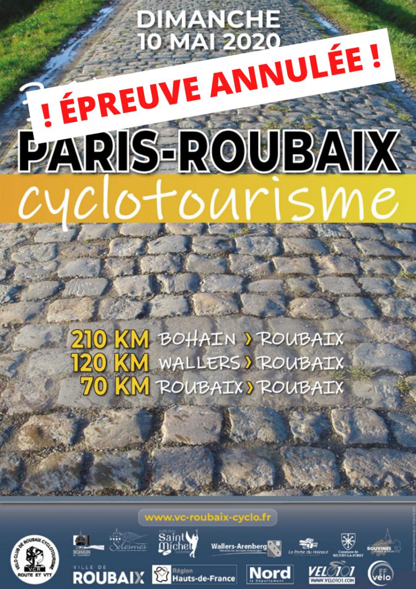 Paris-roubaix_AFFICHE_ ÉPREUVE ANNULÉE