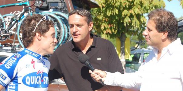 Patrick Chassé et Jacky Durand en interview avec Sylvain Chavanel