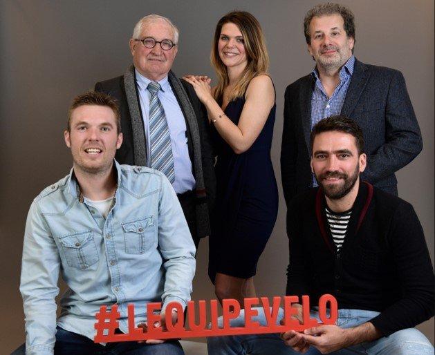 Patrick Chassé officie pour la Chaîne l'Equipe avec notamment Claire Bricogne, Cédric Pineau, Cyrille Guimard et Christophe Riblon