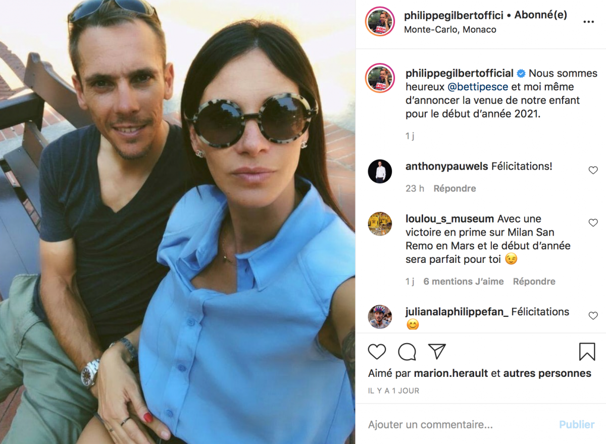 Philippe Gilbert attend un enfant