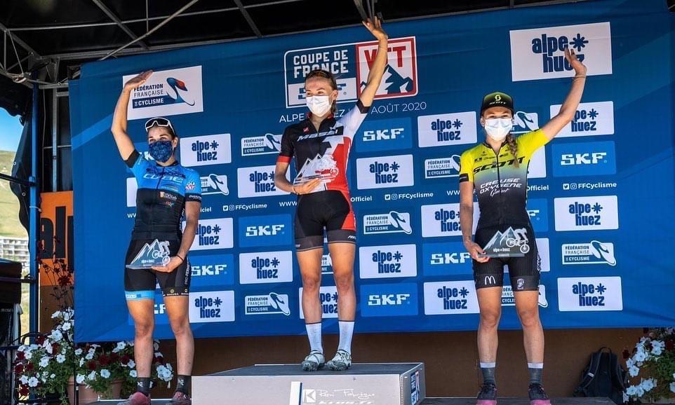 Podium U23 Femmes à l'Alpe d'Huez