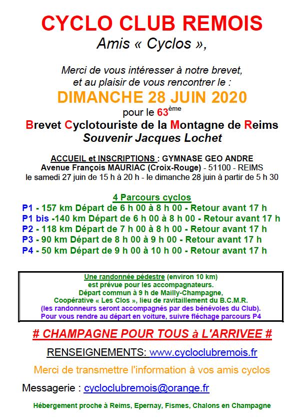 Présentation_Le Brevet Cyclo de la Montagne de Reims 2020