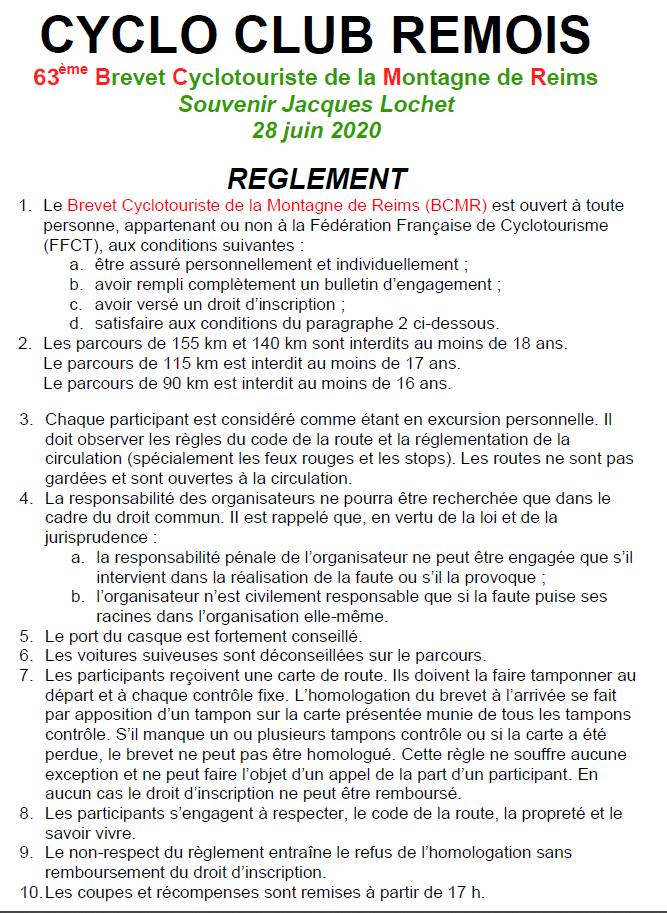 Réglement_Le Brevet Cyclo de la Montagne de Reims 2020_evo