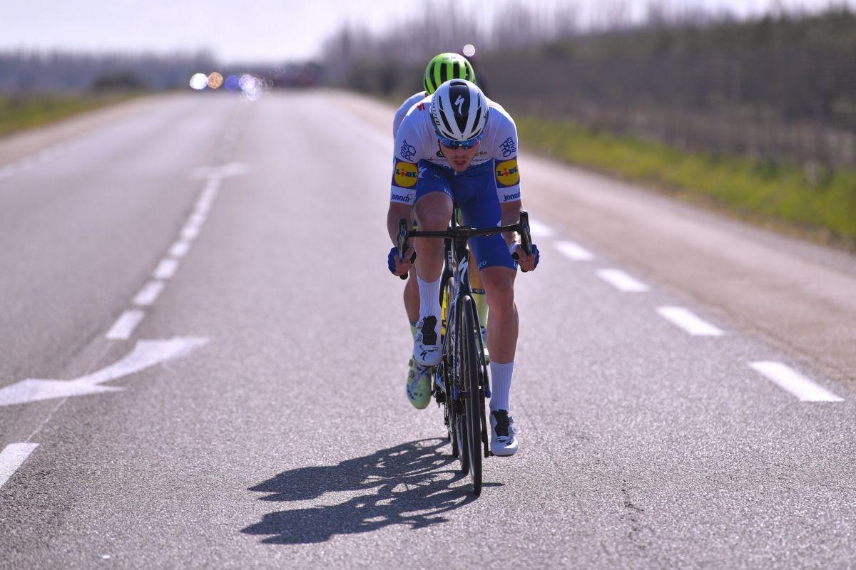 Rémi Cavagna en échappée sur l'étape du Ventoux
