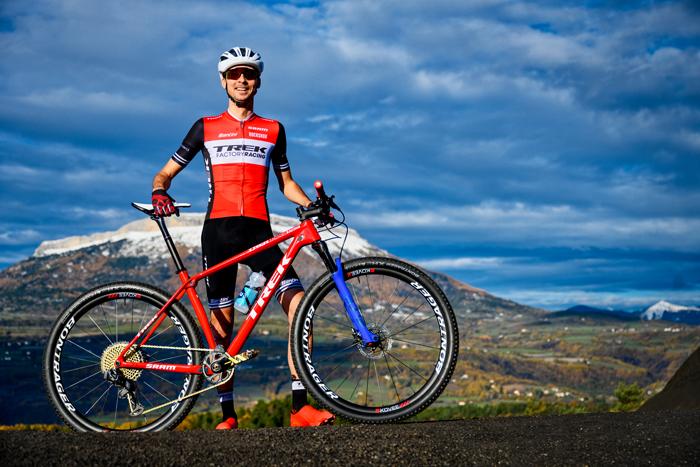 Stéphane Tempier sous son nouveau maillot Trek