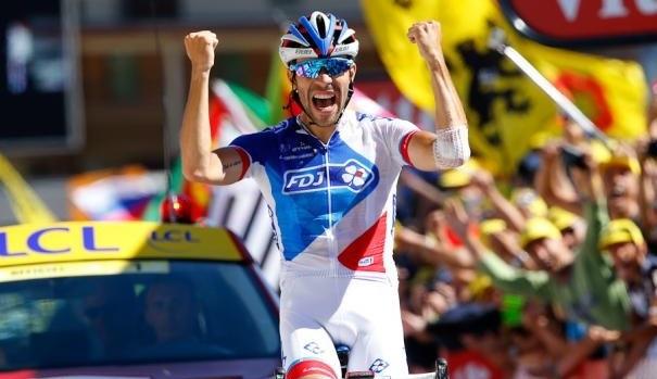 Thibaut Pinot vainqueur au sommet de l'Alpe d'Huez sur le Tour de France 2015