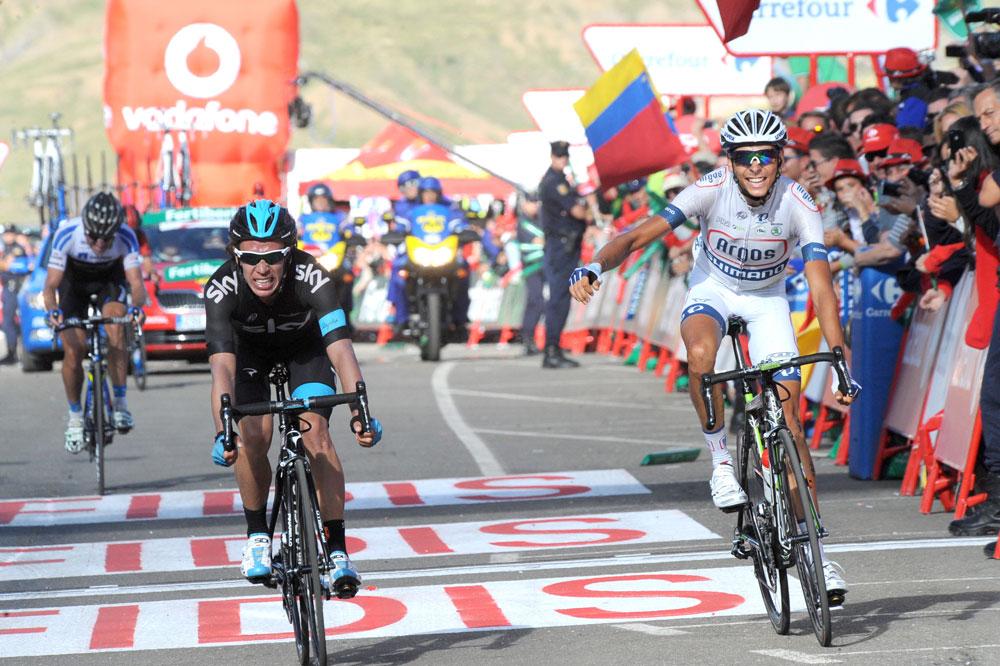 Warren Barguil, vainqueur de deux étapes lors de la Vuelta 2013