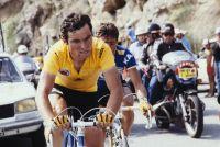 Bernard Hinault avec le maillot jaune sur le Tour de France 1979