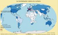 Carte : la mondialisation relative du cyclisme