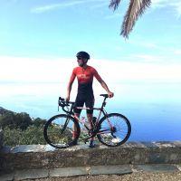 Frédéric Ostian sur la Cyclo Corse