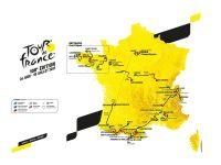 La carte du Tour 2021
