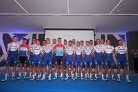 La team Deceuninck-Quick Step au complet lors de la présentation