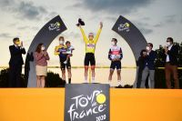 Le podium final de ce Tour de France 2020