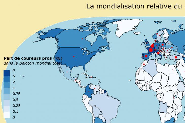Le cyclisme en cartes #1 : la mondialisation relative du cyclisme