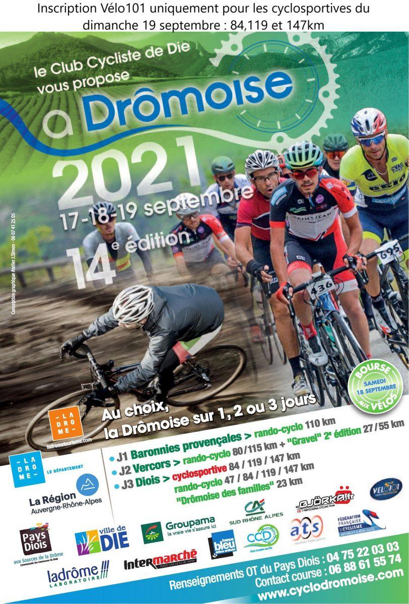 Affiche La Drômoise 2021avec note en haut