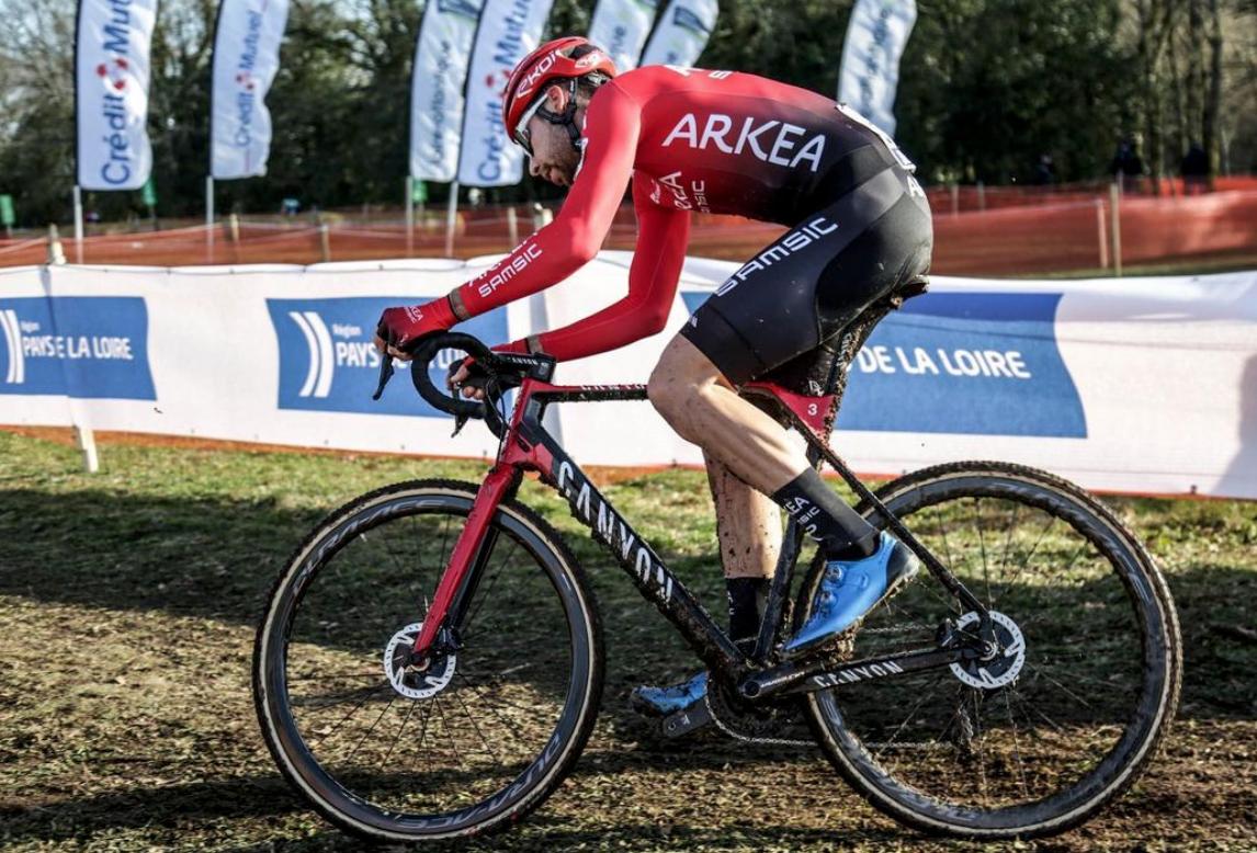 Clément Russo au France cyclo-cross à Pontchâteau