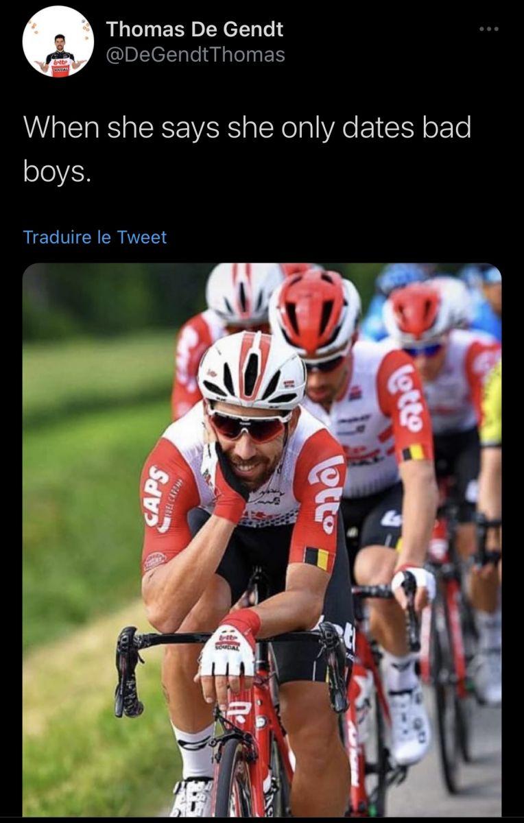 L'humour de Thomas De Gendt sur Twitter