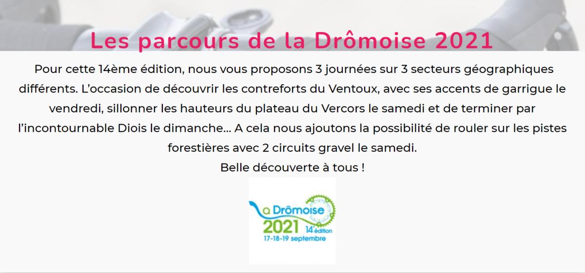 La Drômoise 2021 parcours