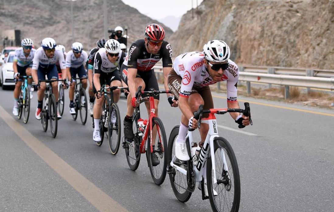 Larry Warbasse dans l'échappée sur l'UAE Tour
