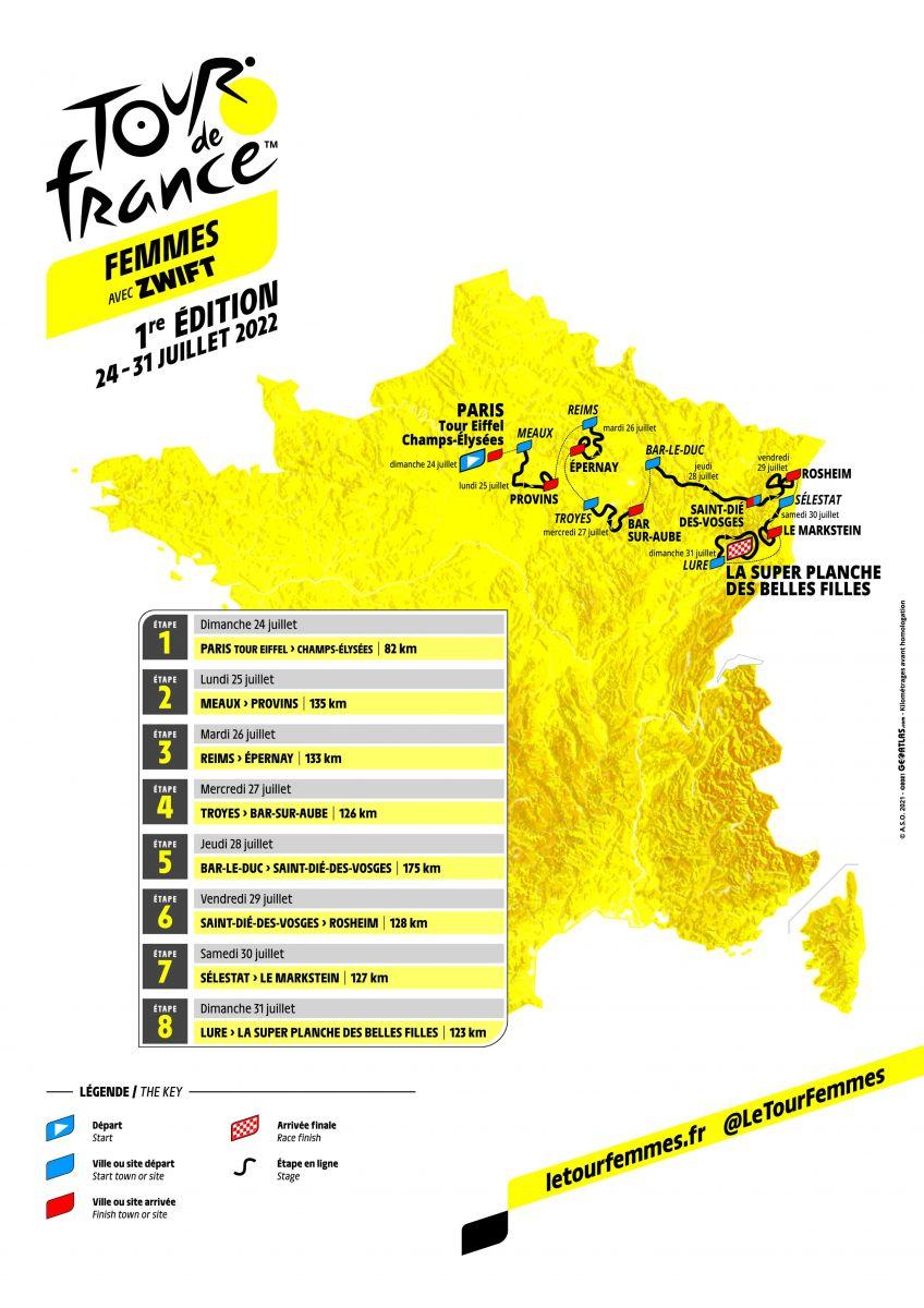 Le parcours du tour féminin 2022
