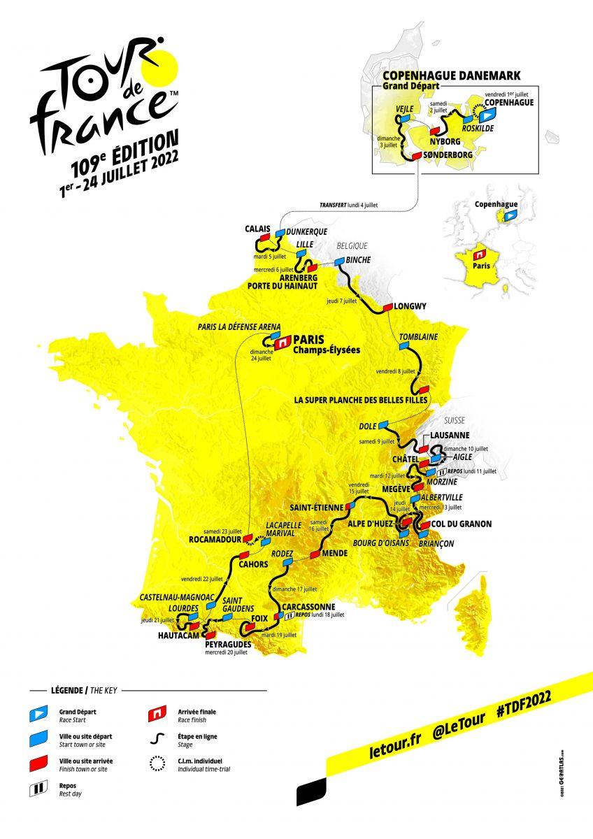 Le parcours officiel du Tour de France 2022 1