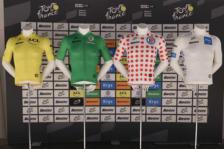 maillots tour de france 2022 santini