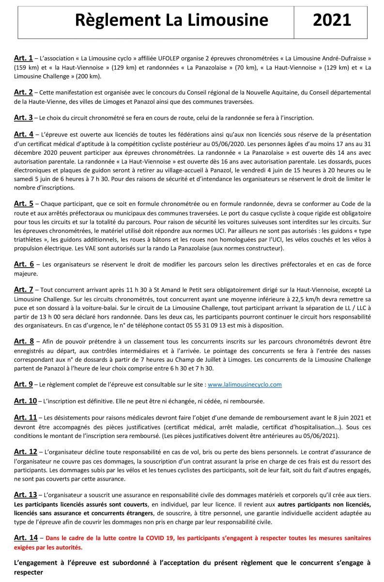 Règlement LL 2021