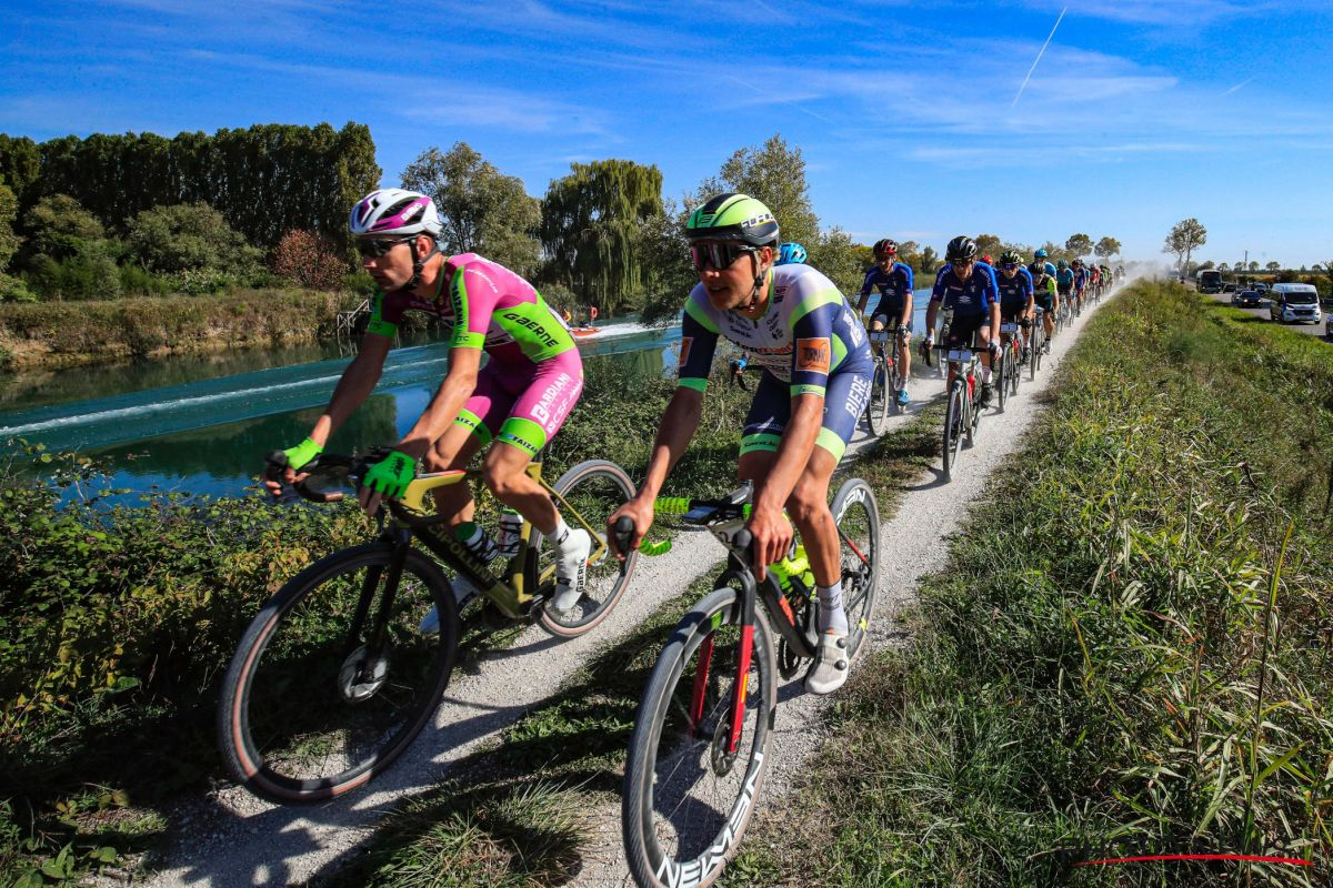 When the professionals of the peloton get all the way down to work.  , gravel bike News