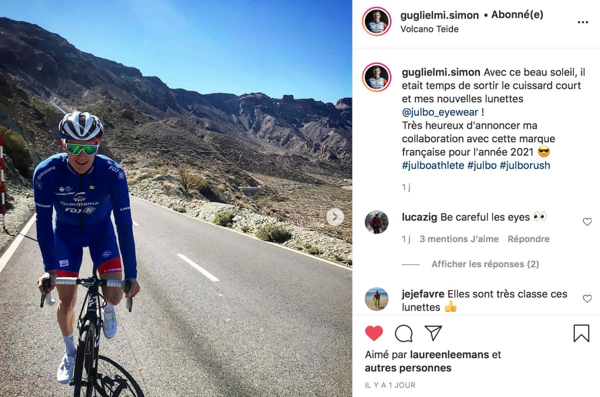 Simon Guglielmi sur le Teide