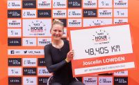 La cycliste britannique Joscelin Lowden bat le record de l'heure féminin