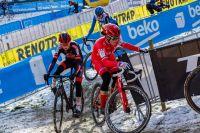 Marion Norbert-Riberolle en course dans la neige