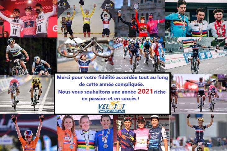 La rédaction de Vélo 101 vous transmet ses meilleurs vœux pour l'année 2021 !
