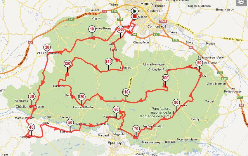 Brevet cyclotouriste de la montagne de reims pr sentation - Carte de visite reims ...